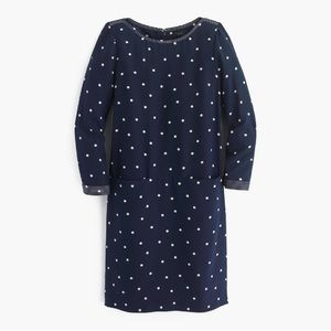 J.crew silk polka dot shift dress new with tags!!